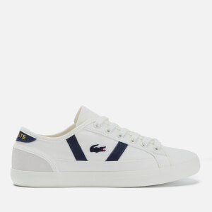 e2a8bccb2dd8 Lacoste Women s Sideline 119 1 Canvas Vulcanised Trainers - Off White Navy