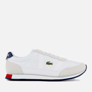 Lacoste Men's Partner 119 1 Runner Style Trainers - White/Navy/Red