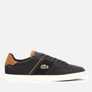 Lacoste Men's Fairlead 119 1 Leather Vulcanised Trainers - Black/Light Brown