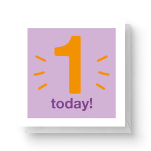 One Today Square Greetings Card (14.8cm x 14.8cm)