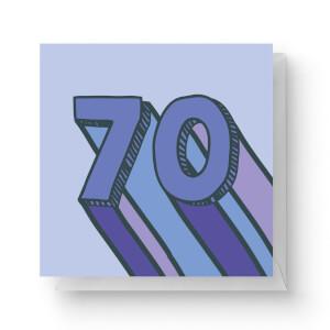 70 Square Greetings Card (14.8cm x 14.8cm)