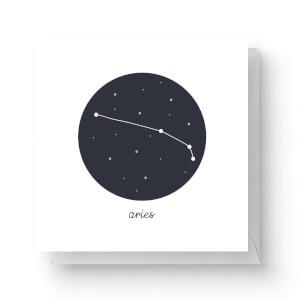 Aries Square Greetings Card (14.8cm x 14.8cm)