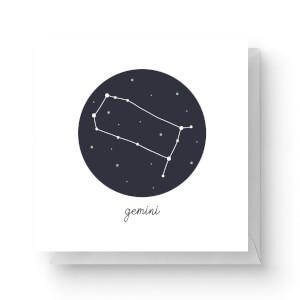 Gemini Square Greetings Card (14.8cm x 14.8cm)