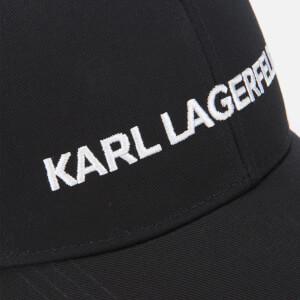 Karl Lagerfeld Women's Karl's Essential Logo Cap - Black: Image 4