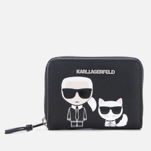 Karl Lagerfeld Women's K/Ikonik Small Zip Wallet - Black