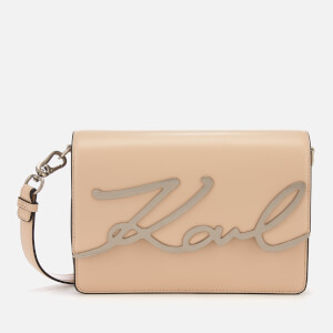 Karl Lagerfeld Women's K/Signature Shoulder Bag - Biscuit
