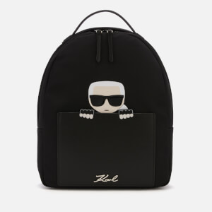 Karl Lagerfeld Women's K/Ikonik Nylon Small Backpack - Black