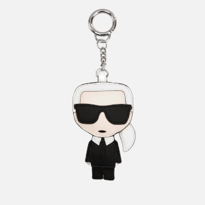 Karl Lagerfeld Women's Leather Karl Keychain - Black