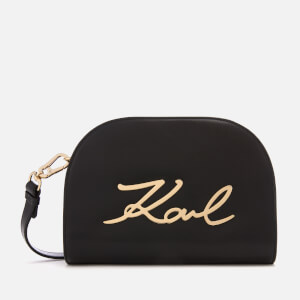 Karl Lagerfeld Women's K/Signature Big Cross Body Bag - Black/Gold