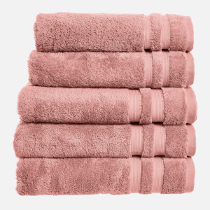 in homeware 100% Egyptian Cotton Pile 5 Piece Towel Bale - Blush