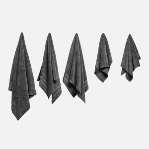in homeware 100% Egyptian Cotton Pile 5 Piece Towel Bale - Dark Grey