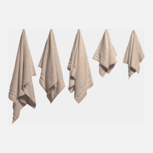 in homeware 100% Egyptian Cotton Pile 5 Piece Towel Bale - Natural
