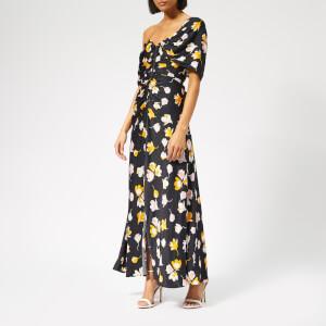Self-Portrait Women's Off Shoulder Floral Dress - Black