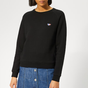 Maison Kitsuné Women's Sweatshirt Tricolor Fox Patch - Black