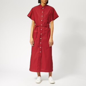 Maison Kitsuné Women's Poplin Isabella Long Shirt Dress - Red