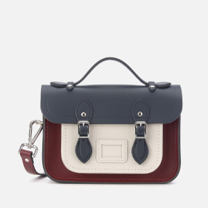a9a476b7c4a1 The Cambridge Satchel Company Women s Mini Tri Colour Satchel -  Clay Oxblood Navy