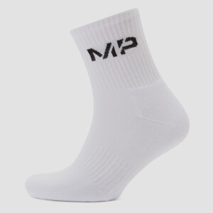 Men's Crew Socks - White (2 Pack)