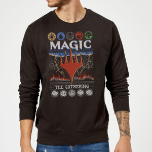Sudadera Navideña Magic The Gathering Colours of Magic - Hombre - Negro
