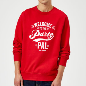 Die Hard Welcome To The Party Pal Christmas Sweatshirt - Red