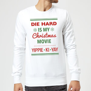 Die Hard Is My Christmas Movie Christmas Sweatshirt - White