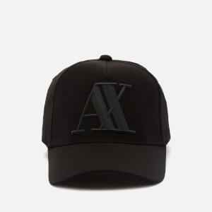 Armani Exchange Men's Rubber Ax Logo Cap - Black