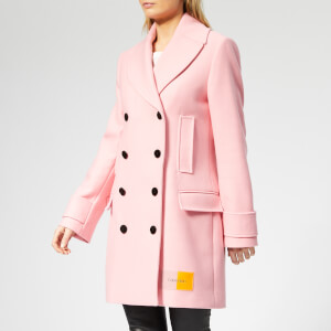 Calvin Klein Women's Structured Wool Peacoat - Blush