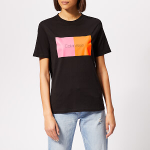 Calvin Klein Women's Duo Print T-Shirt - Black