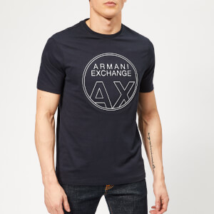 Armani Exchange Men's Circle Logo T-Shirt - Navy