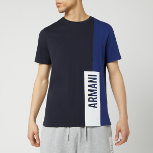 Armani Exchange Men's Colour Block T-Shirt - Navy/Blue Depths