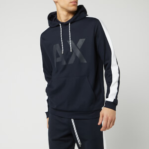Armani Exchange Men's Branded Hoodie - Navy/White