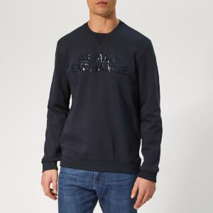 Armani Exchange Men's Logo Sweatshirt - Navy