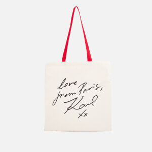 Karl Lagerfeld Women's with Love Canvas Tote Bag - Natural (Free Gift)
