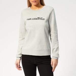 Karl Lagerfeld Women's Ikonik & Logo Sweatshirt - Grey Melange