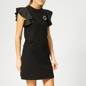 Karl Lagerfeld Women's Ruffle Sleeve T-Shirt Dress - Black