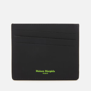 Maison Margiela Men's Snakeskin Card Holder - Roccia/Giallo Fluo