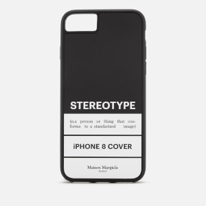 Maison Margiela Men's Stereotype iPhone 8 Case - Black/White