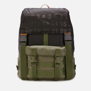 Maison Margiela Men's Backpack - Winter Moss/Black/Cuoio