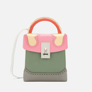 The Volon Women's Great L. Box Alice Bag - Pink & Cream