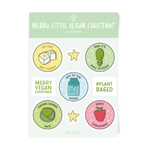 Merry Little Vegan Christmas Sticker Pack