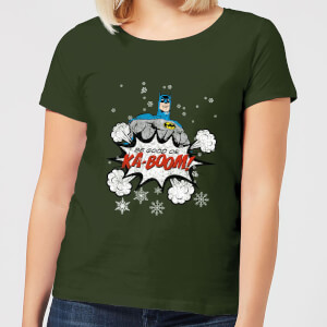 DC Batman Be Good Women's Christmas T-Shirt - Forest Green