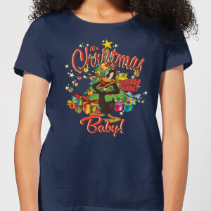 Looney Tunes Its Christmas Baby Women's Christmas T-Shirt - Navy