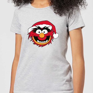 The Muppets Animal Women's Christmas T-Shirt - Grey