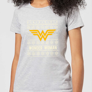 DC Wonder Woman Damen Christmas T-Shirt - Grau