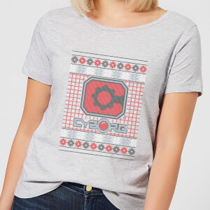 DC Cyborg Knit Damen Christmas T-Shirt - Grau