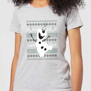 Disney Frozen Olaf Dancing Women's Christmas T-Shirt - Grey
