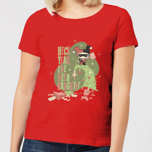 T-Shirt DC Heck Yeah I've Been Naughty! Christmas - Rosso - Donna