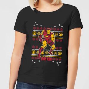 T-Shirt Marvel Iron Man Christmas - Nero - Donna