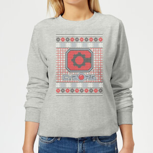 DC Cyborg Knit Women's Christmas Sweatshirt - Grey