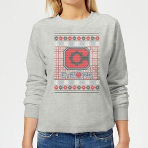 DC Cyborg Knit Damen Weihnachtspullover - Grau