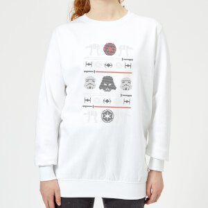 Star Wars Imperial Knit Women's Christmas Sweatshirt - White